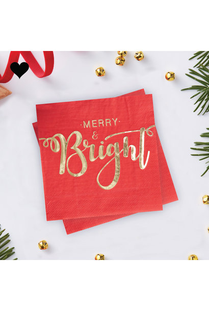 Servetten Merry and Bright (20st) Ginger Ray