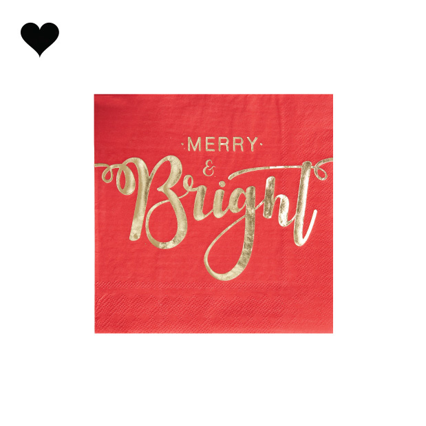 Servetten Merry and Bright (20st) Ginger Ray-2
