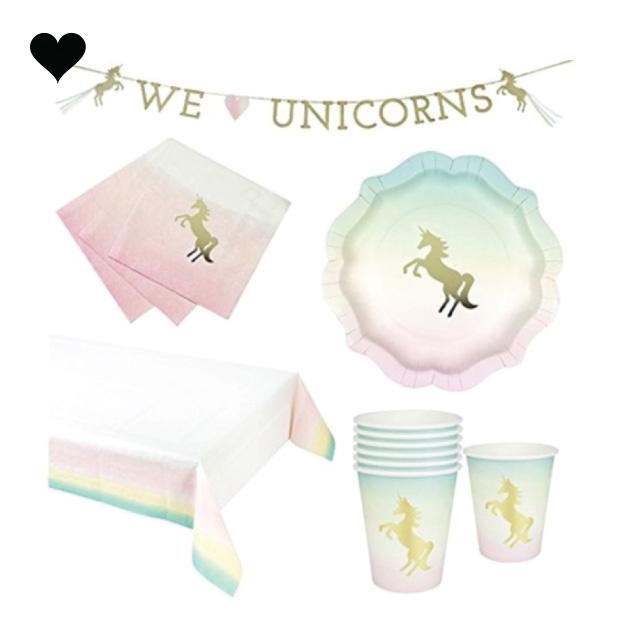We heart unicorns bekers (12st) Talking Tables-2