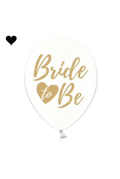 Transparante ballonnen Bride to be goud (6 st)
