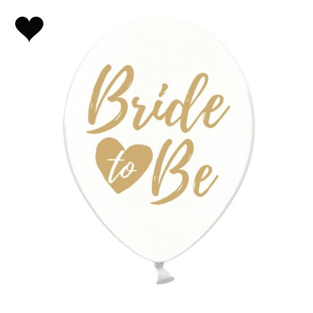Transparante ballonnen Bride to be goud (6 st)-1