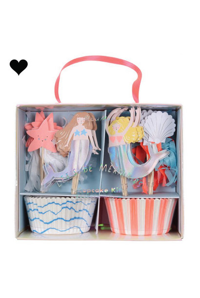 Cupcake set Let's be mermaids (24 st) - Meri Meri