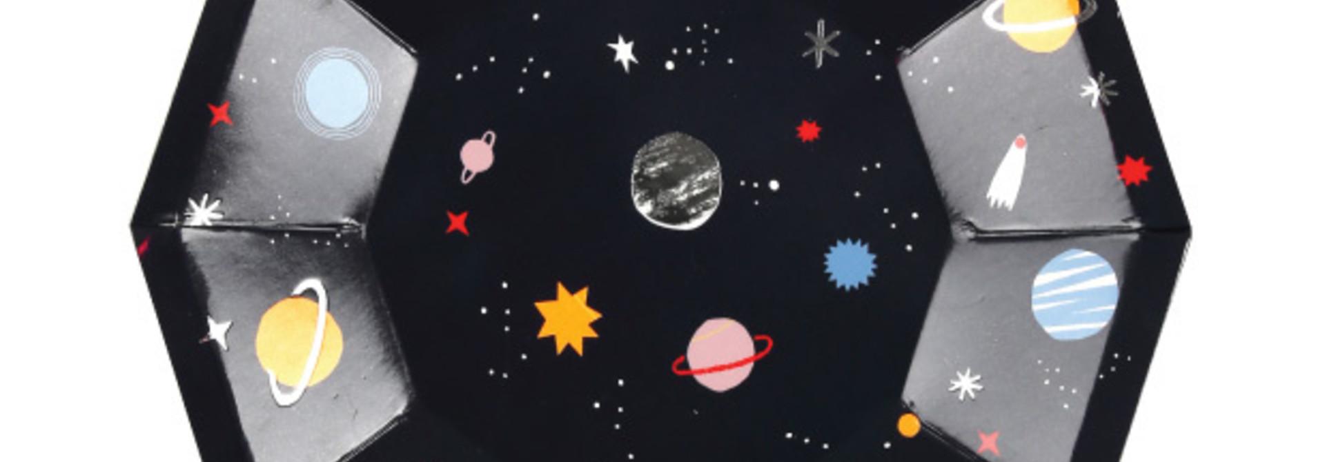 Gebaksbordjes to the moon (8 st) - Meri Meri