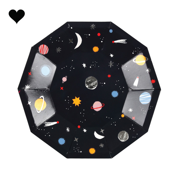 Gebaksbordjes to the moon (8 st) - Meri Meri-1