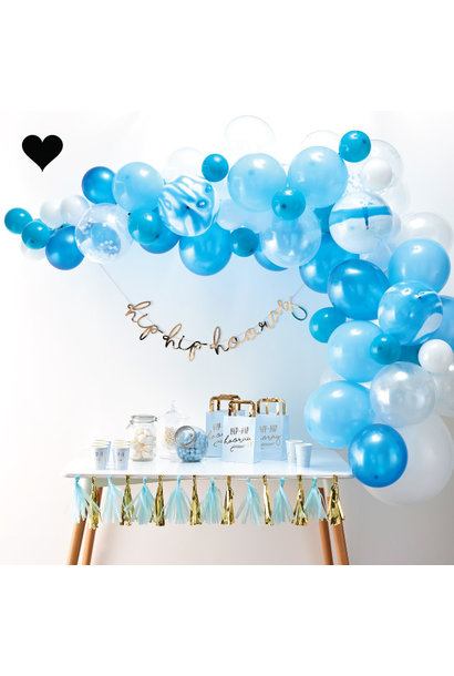 Ballonnenboog pakket blauw (70 st) - Ginger Ray