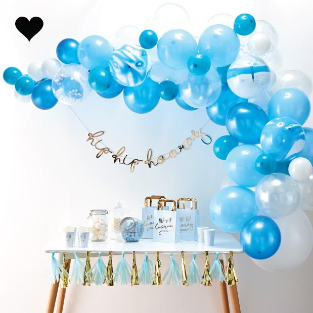 Ballonnenboog pakket blauw (70 st) - Ginger Ray-1