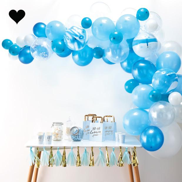 Ballonnenboog pakket blauw (70 st) - Ginger Ray-2