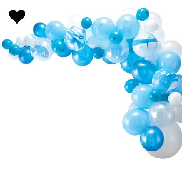 Ballonnenboog pakket blauw (70 st) - Ginger Ray-3