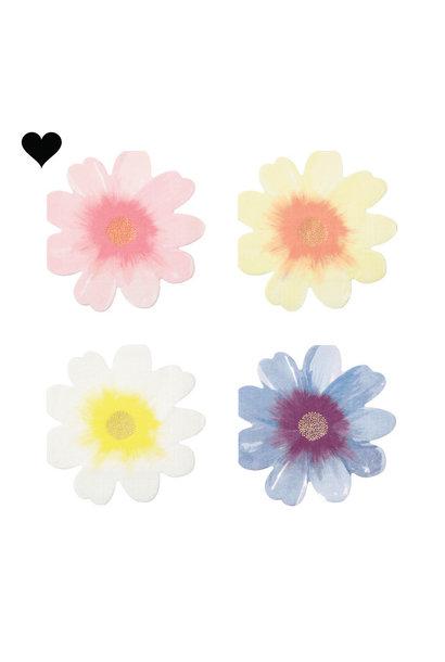 Wild flower servetten (16 st) - Meri Meri