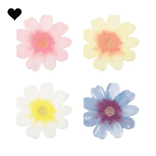 Wild flower servetten (16st) Meri Meri-1