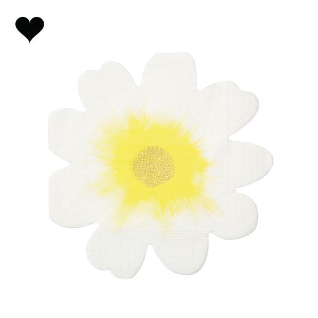 Wild flower servetten (16st) Meri Meri-3