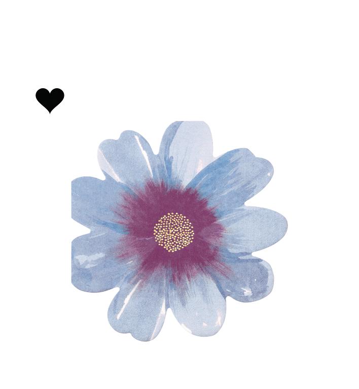 Wild flower servetten (16st) Meri Meri-5