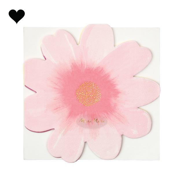 Wild flower servetten (16st) Meri Meri-7