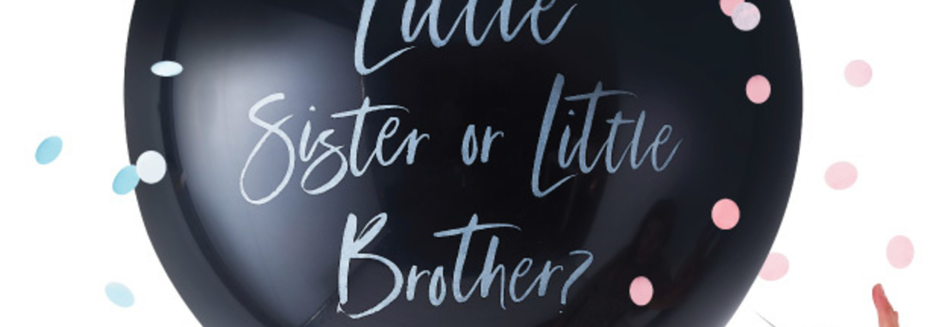 Gender Reveal Ballon Brother or Sister Twinkle Twinkle -  Ginger Ray