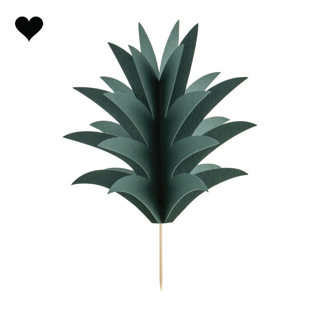 Cupcake toppers ananas (6 st)-1