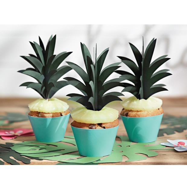 Cupcake toppers ananas (6 st)-3