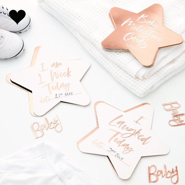 Baby Milestone kaarten (24 st) Twinkle Twinkle - Ginger Ray-1