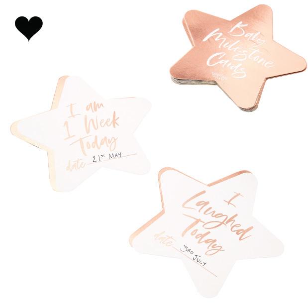 Baby Milestone kaarten (24 st) Twinkle Twinkle - Ginger Ray-2