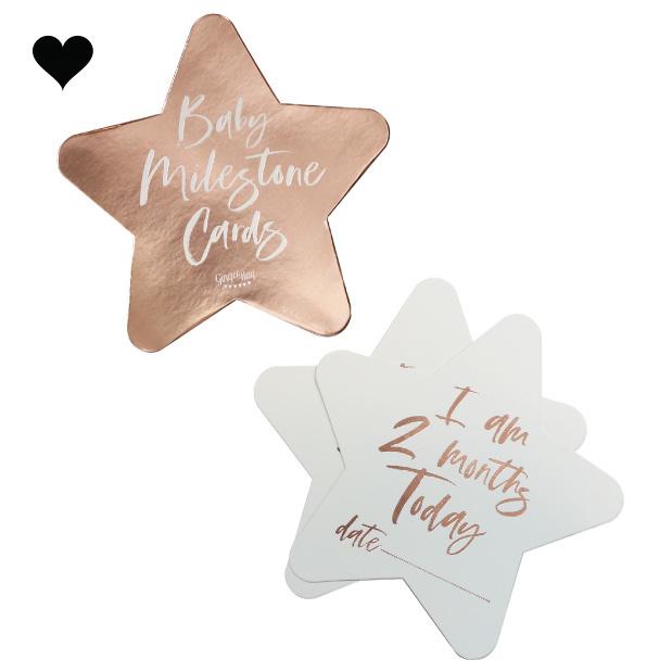 Baby Milestone kaarten (24 st) Twinkle Twinkle - Ginger Ray-3