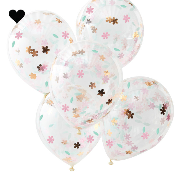 Confetti ballonnen Ditsy Floral (5 st) Ginger Ray-2