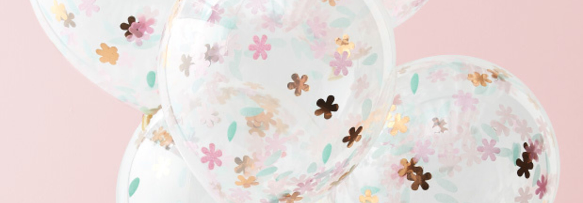 Confetti ballonnen Ditsy Floral (5 st) Ginger Ray