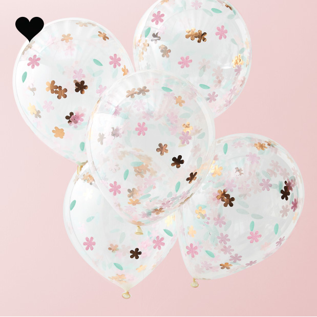 Confetti ballonnen Ditsy Floral (5 st) Ginger Ray-1