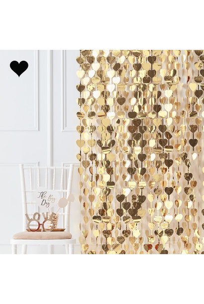 Backdrop hartjes Gold Wedding - Ginger Ray