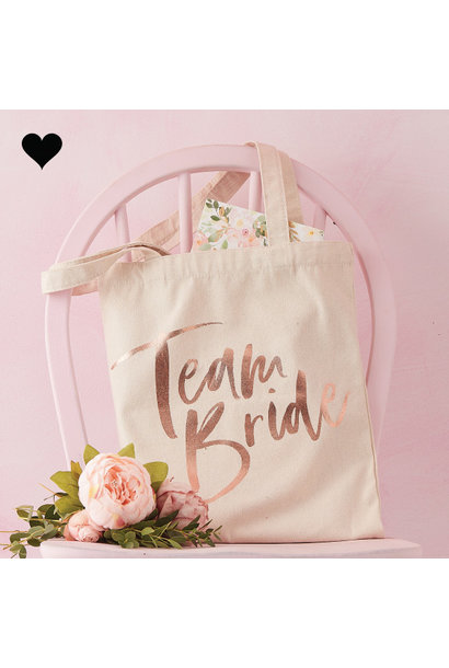 Canvas tas Team Bride Floral Hen Party - Ginger Ray