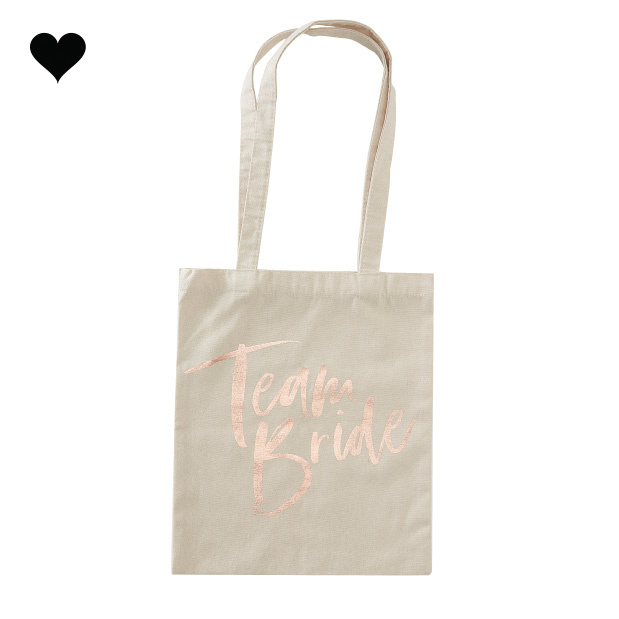 Canvas tas Team Bride Floral Hen Party - Ginger Ray-2