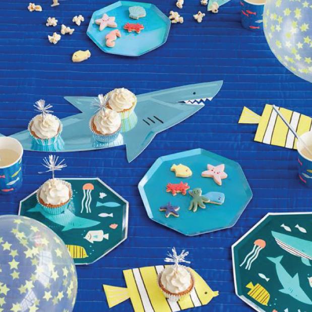 Bordjes haai Under The Sea (4 st) - Meri Meri-4