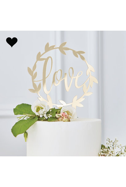 Taarttopper Love Gold Wedding - Ginger Ray