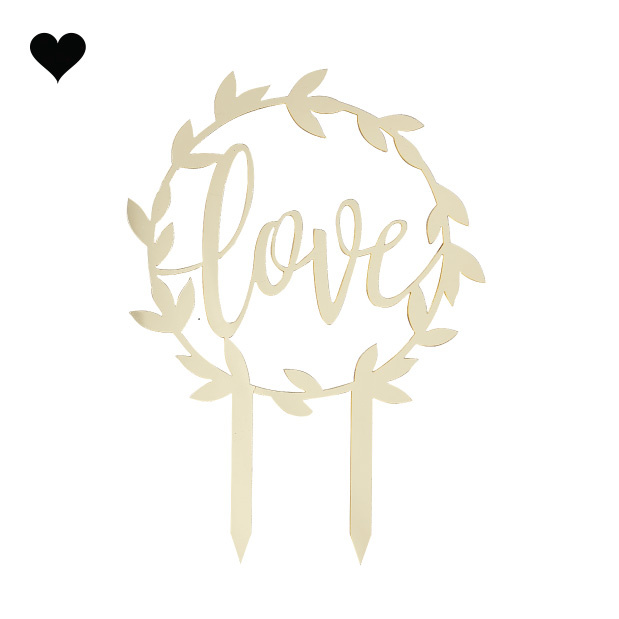 Taarttopper Love Gold Wedding - Ginger Ray-2