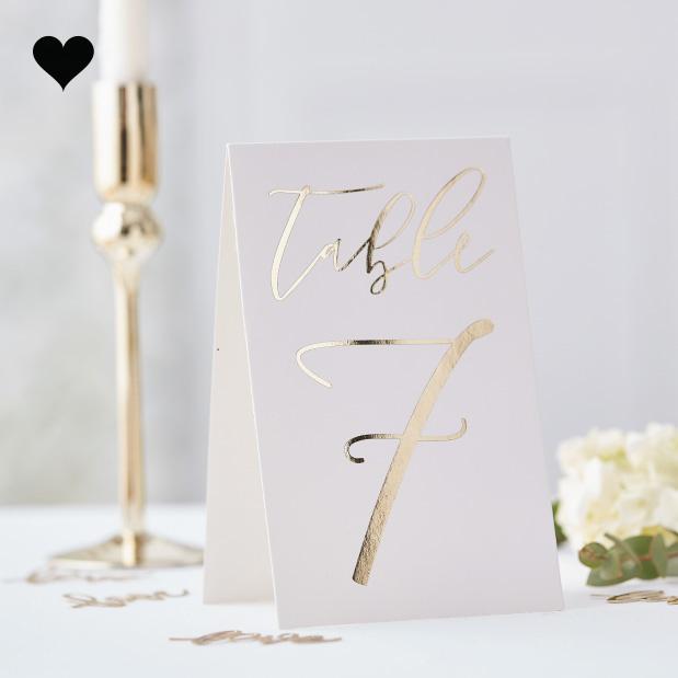 Tafelnummers 1-12 Gold Wedding - Ginger Ray-1
