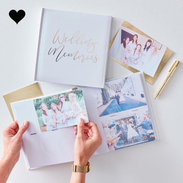 Fotoalbum Wedding Memories Gold Wedding - Ginger Ray-1