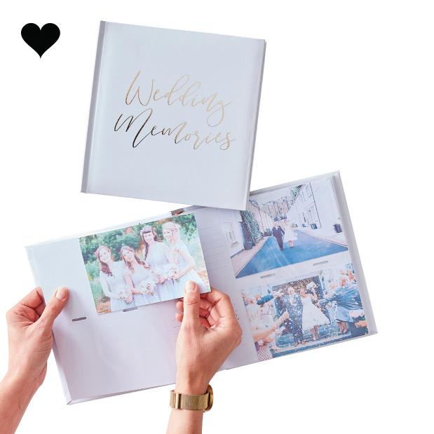 Fotoalbum Wedding Memories Gold Wedding - Ginger Ray-2