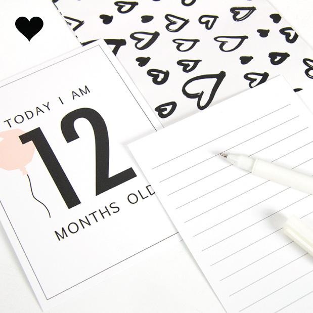 Baby Milestone Kaarten meisje (12st)-3