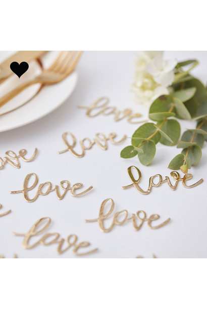Tafelconfetti Love Gold Wedding - Ginger Ray