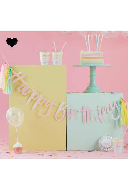 Happy Birthday slinger Pastel Party (2 M) - Ginger Ray