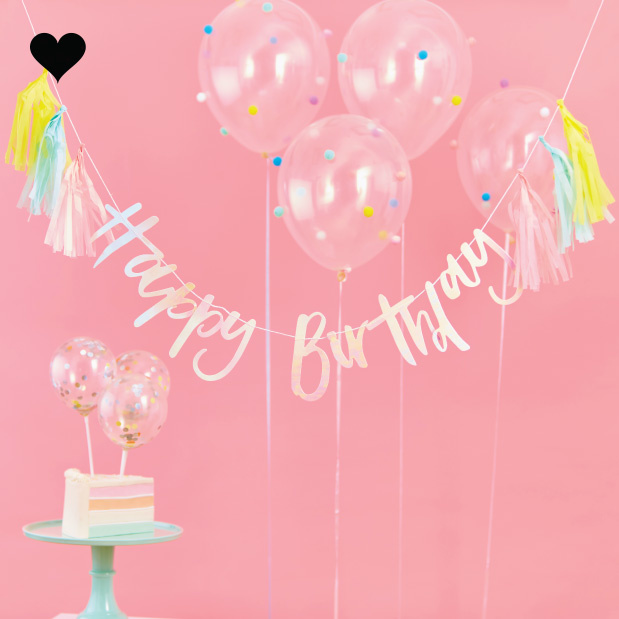 Happy Birthday slinger Pastel Party (2 M) - Ginger Ray-2