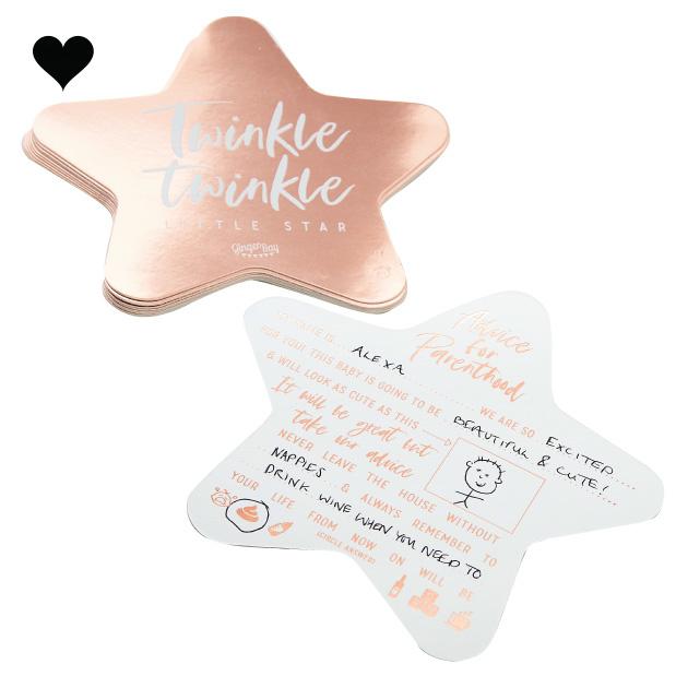Babyshower invulkaarten Twinkle Twinkle (10 st) - Ginger Ray-2