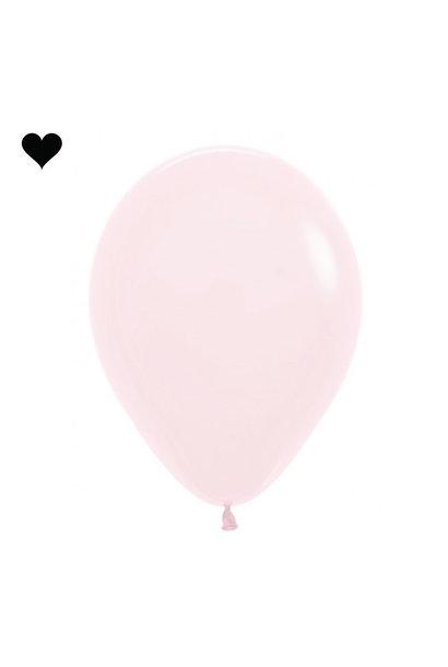 Ballonnen pastel mat roze (10 st)