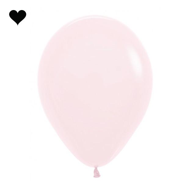 Ballonnen pastel mat roze (10 st)-1