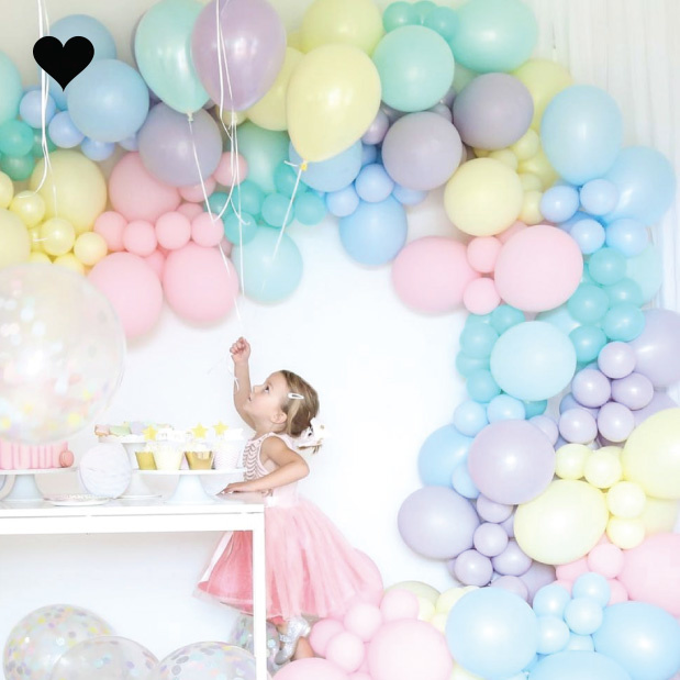 Ballonnen pastel mat blauw (10 st)-2