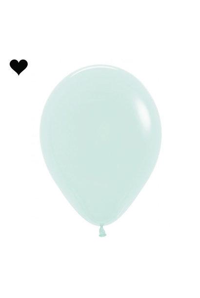 Ballonnen pastel mat mint (10 st)