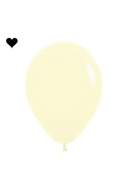 Ballonnen pastel mat geel (10 st)