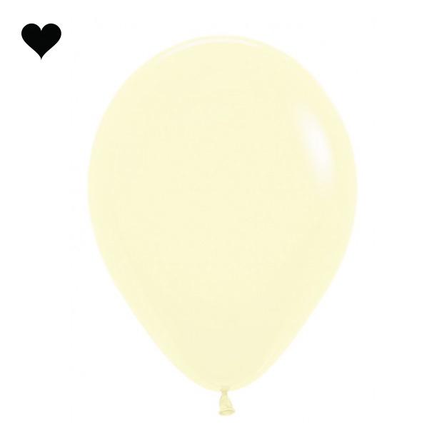 Ballonnen pastel mat geel (10 st)-1