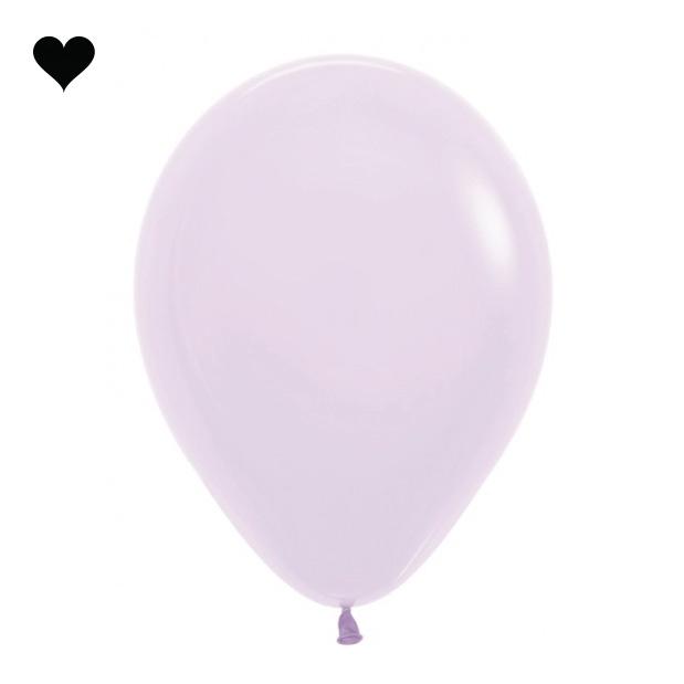 Ballonnen pastel mat lila (10 st)-1