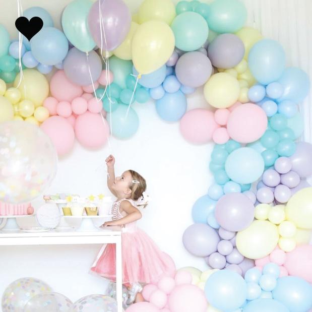 Ballonnen pastel mat lila (10 st)-2