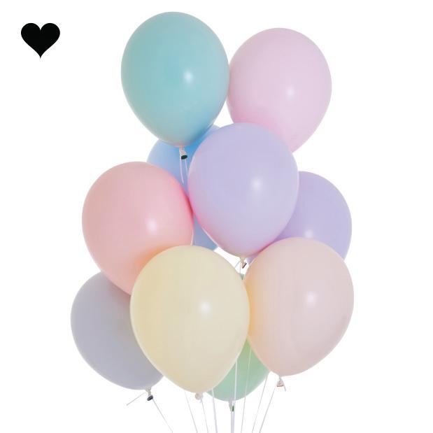 Ballonnen pastel mat lila (10 st)-3