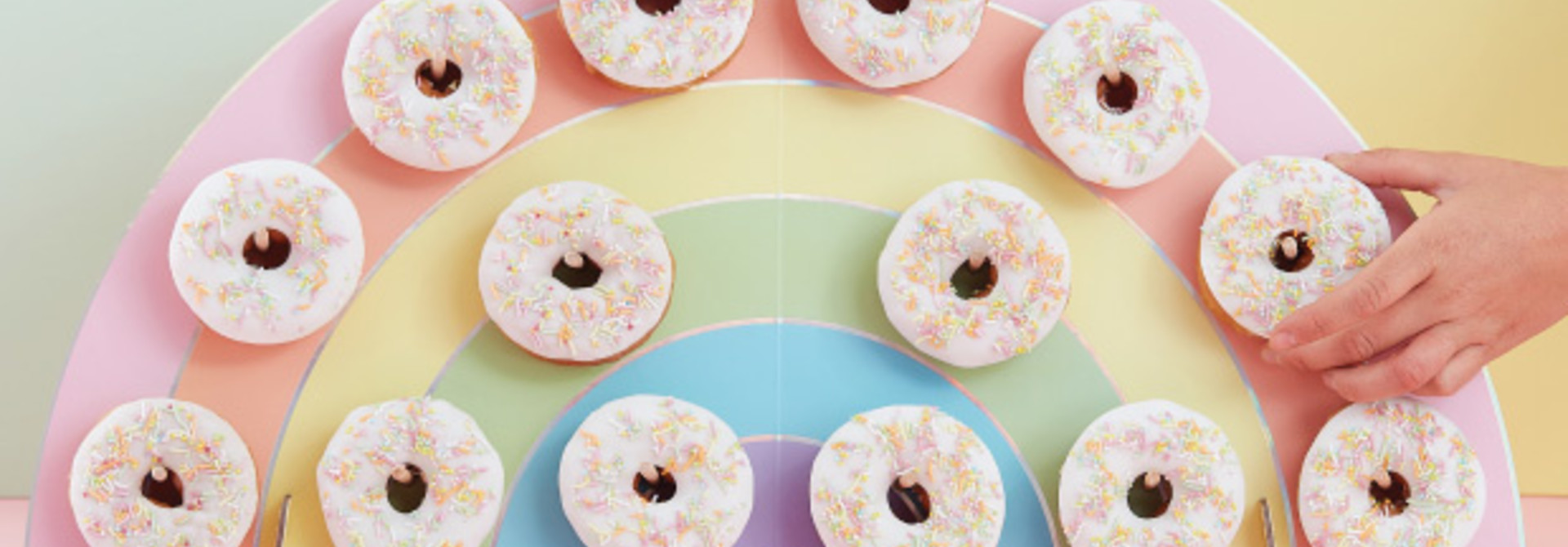 Donutwall Regenboog Pastel Party - Ginger Ray